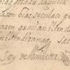 Fragmento de la doctrina, con la firma Soy de Amilletta