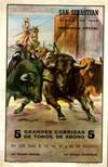 Programa de corridas de toros, de 1948