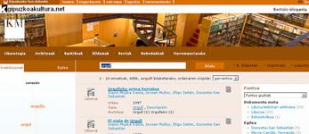 Página de resultados del catálogo